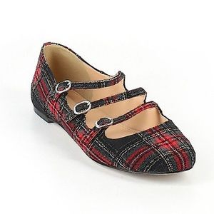J. Crew Plaid Holiday Ballet Flats - fits like a 9